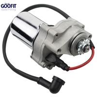 GOOFIT 12 Tooth Electric Starter Motor Chinese Top Engine Mount for 50cc 70cc 90cc 110cc ATV Motorcycle Accessory Group 124