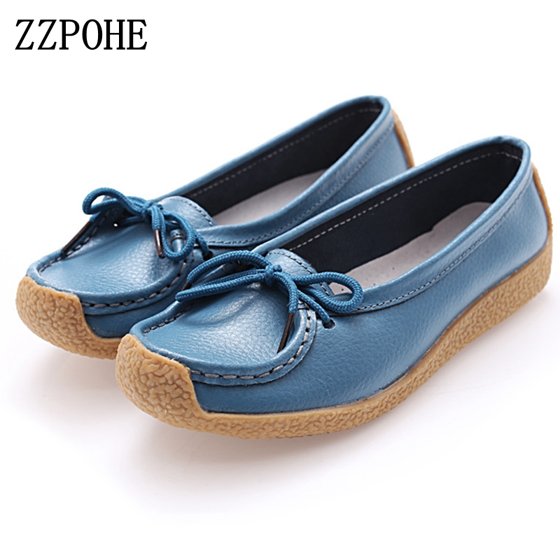 ZZPOHE 2017 Spring new women's fashion casual shoes flat Peas mother Soft bottom shoes Female skirt comfortable driving shoes fashion women leopard patchwork peas shoes with butterfly knot korean style casual soft pu flat shoes female 2017 or910000