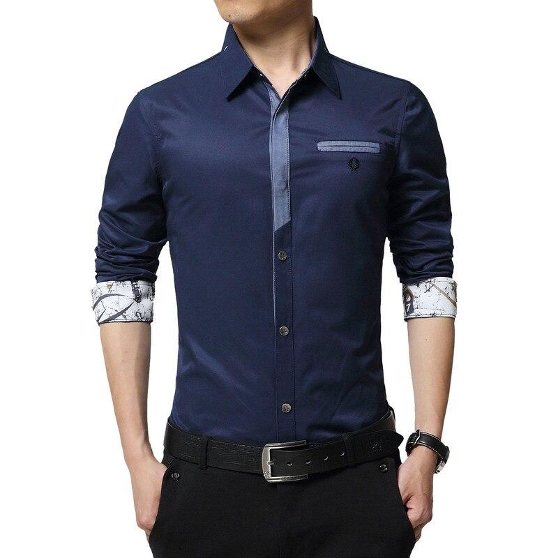 Floral Print Striped Dress Men Shirt Uniform Mens Long Sleeve Slim Fit Top Vintage Cotton Button Down Shirts Camisa Masculina 28