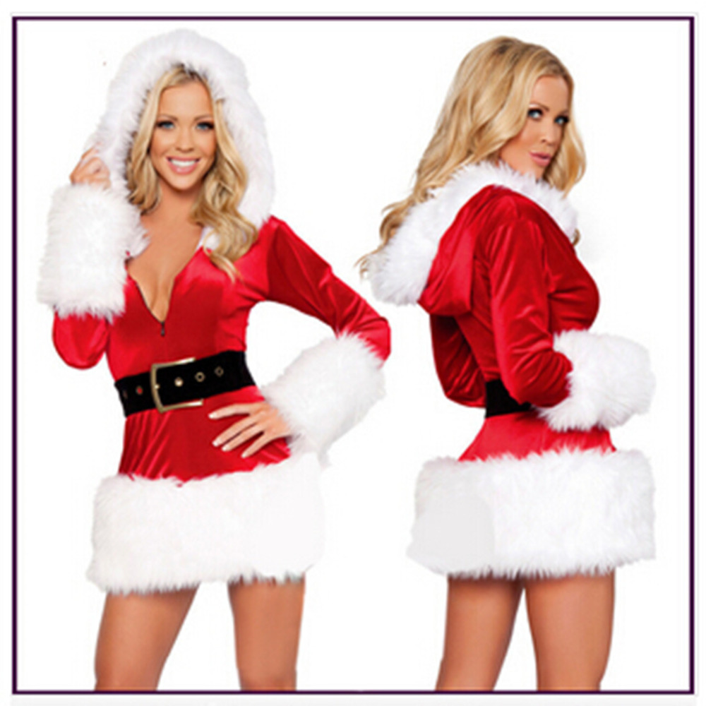 Christmas dress boutiques - New Arrive1 Set Sexy Women Santa Claus Christmas Costume Party Girls Outfit Fancy Dresses China