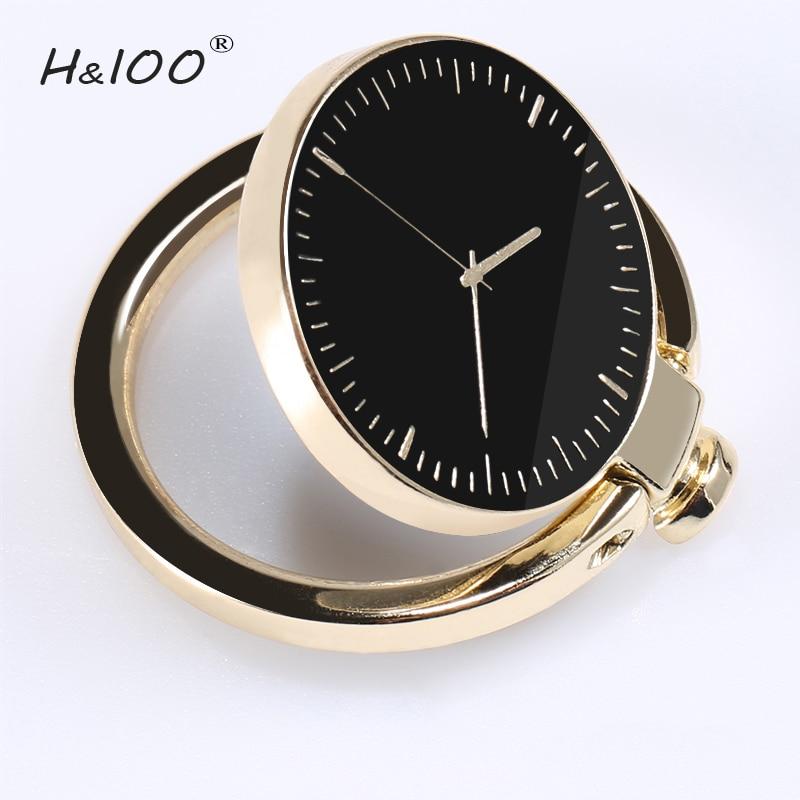 H&lOO Mobile Phone Ring Holder for Samsung S8 Plus 360 Degree Rotation Metal Finger Ring Holder Universal Phone Stand Bracket