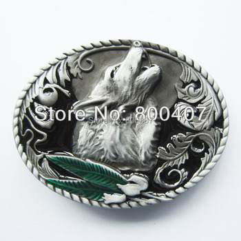 цена на Wholesale Retail Western Wolf Belt Buckle Factory Direct Fast Delivery Free Shipping