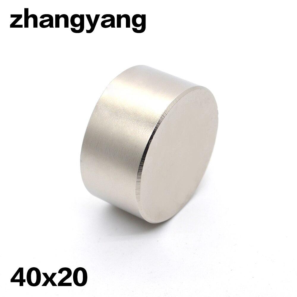 2 pz magnete Al Neodimio 40x20mm gallio in metallo super-forte magnete 40*20 Neodimio magneti metri d'acqua altoparlante elettromagnete N52