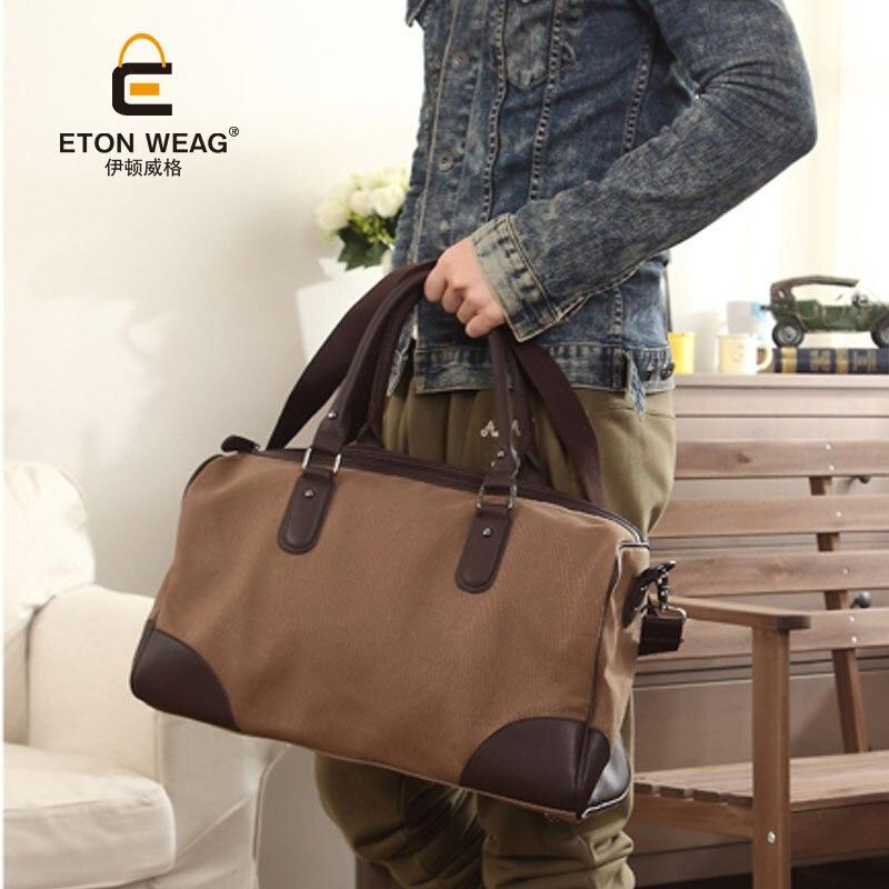 7a353659d5d Nuevo 2015 moda hombre bolso de lona grandes hombres de la capacidad bolsas  de viaje de los hombres bolsas de mensajero de los hombres maletín envío  libre