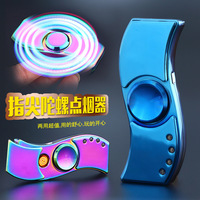 JL881 Gyro Metal Finger Tip Lamp Toy USB Rechargeable Cigarette Lighter Cigarette Lighter