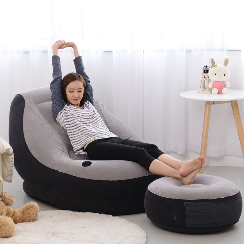 Ec Inflatable Sofa Bed Linen Creative People Beanbag Chair Cushion Thickening Lovely Recliner Free Shipping In Living Room Sofas From