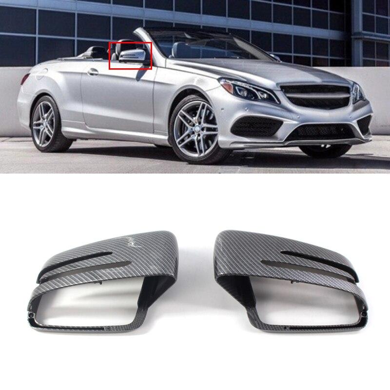 Fibre de carbone Look gauche porte miroir couvercle capuchon logement aile vue arrière miroir garniture pour W176 W246 W204 W212 W221 GLA CLA C117