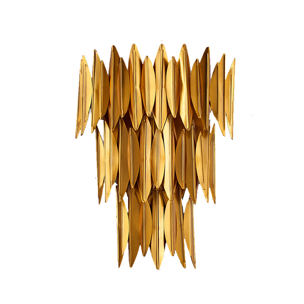 Confident Luxury Design Stainless Steel Wall Light Modern Wall Lamp Dia25*h36cm Gold Living Room Bedroom Lights Nourishing The Kidneys Relieving Rheumatism Led Indoor Wall Lamps Led Lamps