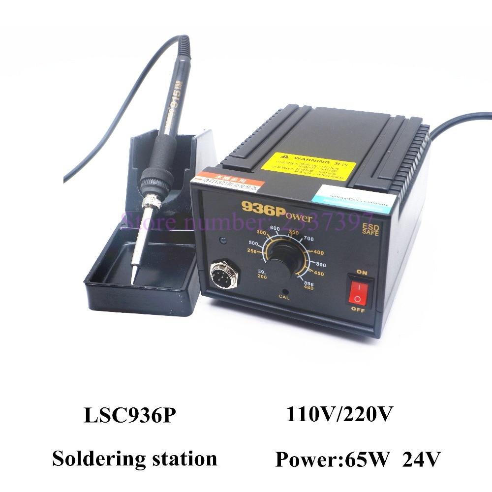Haute qualité LSC936P antistatique Réglable thermostat 110 v/220 v électrique fer à souder station de soudage fer à souder 936