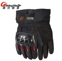 2017 New Riding Tribe Motorcycle Gloves Winter Waterproof Cold Wrestling Thermal Ski Riding Gloves Moto Locomotive