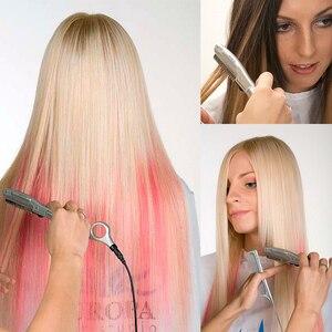 Image 3 - Бесплатная доставка ультразвуковой горячей вибрационный Бритва для волос с/человеческих волос США, ЕС Plug, тепла ножницами волосы триммеры L 538