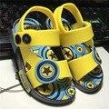 2017 новый мини сэд летом сандалии для малышей детская мода желе мальчики и девочки обувь Британский вентилятор противоскольжения подошв обуви обувь пятно