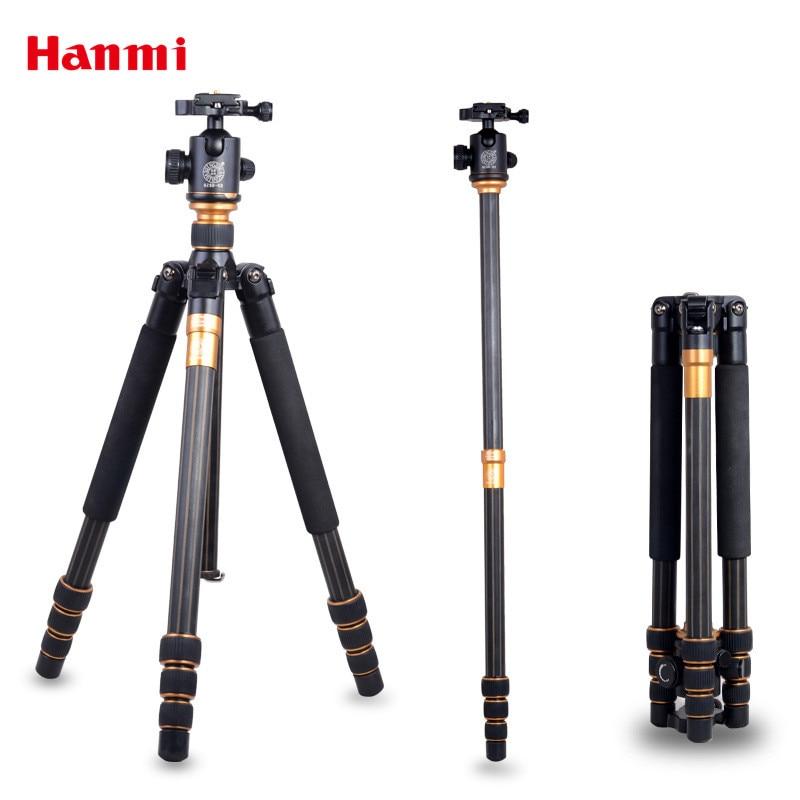 Hanmi Professional Carbon 3-Way Tripod Mount Tripode Camara Profesional Camera Stand Tripod For Selfie Stick Monopod DSLR Tripod hanmi selfie &