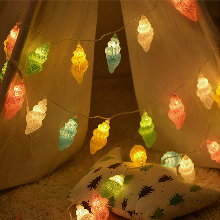 1,5m 10leds 3m 20leds Conch LED String Light Holiday Jul - Festlig belysning - Foto 2