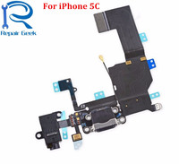 1pcs New Headphone Audio Jack Charging Dock Connector USB Flex Cable For IPhone 5C Charger Port