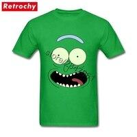 2017 Latest Pickle Rick T Shirt Meme Rick And Morty Face Men Hip Hop T Shirt