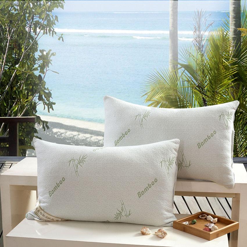 BEYOND CLOUD Original Bamboo Fiber Cover 100% Polyester Filler Health Care Support Neck Fatigue Relief Zero Pressure Pillows 045