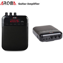 Aroma 5W mini Guitar Amplifier Recorder Speaker TF Card Slot Compact Portable Guitar Parts & Accessories