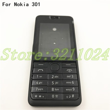 Good quality For Nokia Asha 301 n301 Dual card version Housing Cover + Keypad Battery With Logo