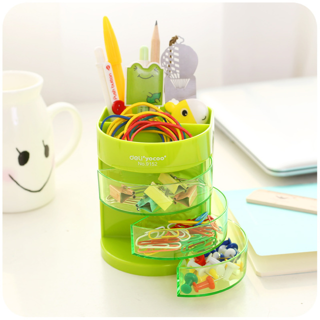 Cute point color color stand holder for pen pencil eraser Table organizer Stationery office accessories School supplies F983
