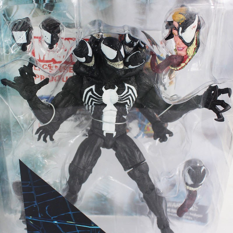 20CM Marvel Long Venom Multi-heads Spider Man Action Figure Toys PVC Collection Model Doll Gifts 7.87inch