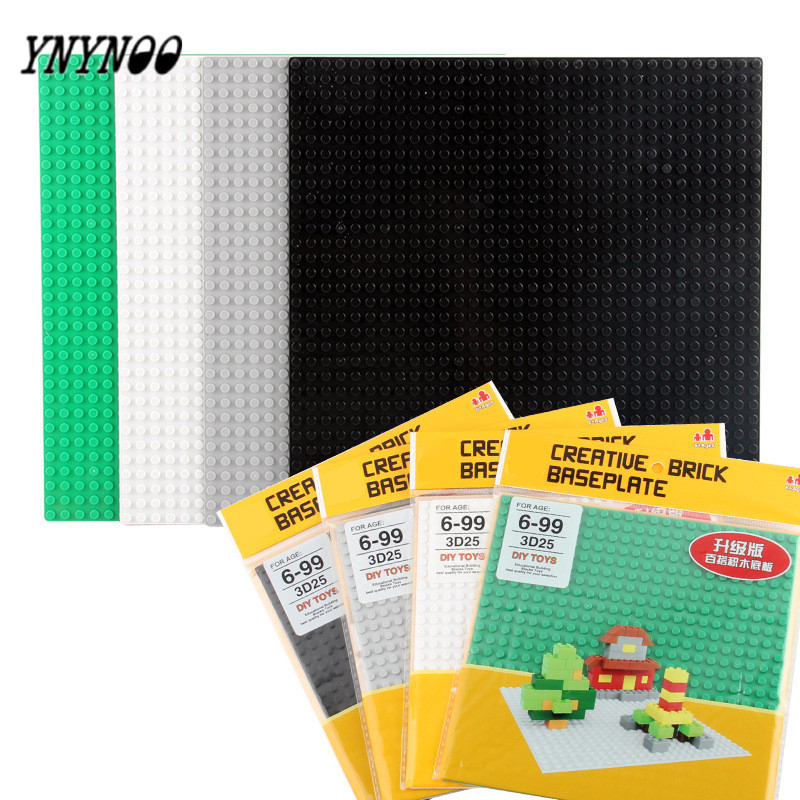 YNYNOO 4 Colors 24*24 Dots Not Easy Break Dots Small Blocks Base Plate 1pc Building Blocks DIY Baseplate Compatible MOC Blocks ynynoo new 32 32 dots not easy to break dots small blocks base plate building blocks diy baseplate compatible major brand blocks