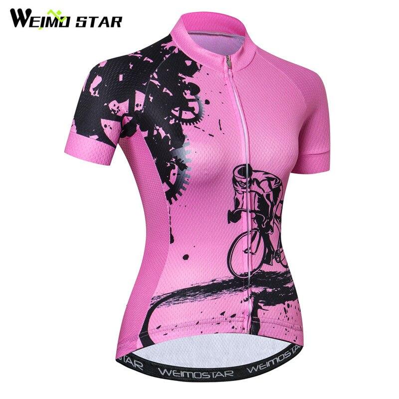 Weimostar Bike Team Radfahren Jersey Frauen Racing Radfahren Kleidung Sommer Fahrrad Kleidung Atmungsaktiv MTB Bike Jersey Ropa Ciclismo