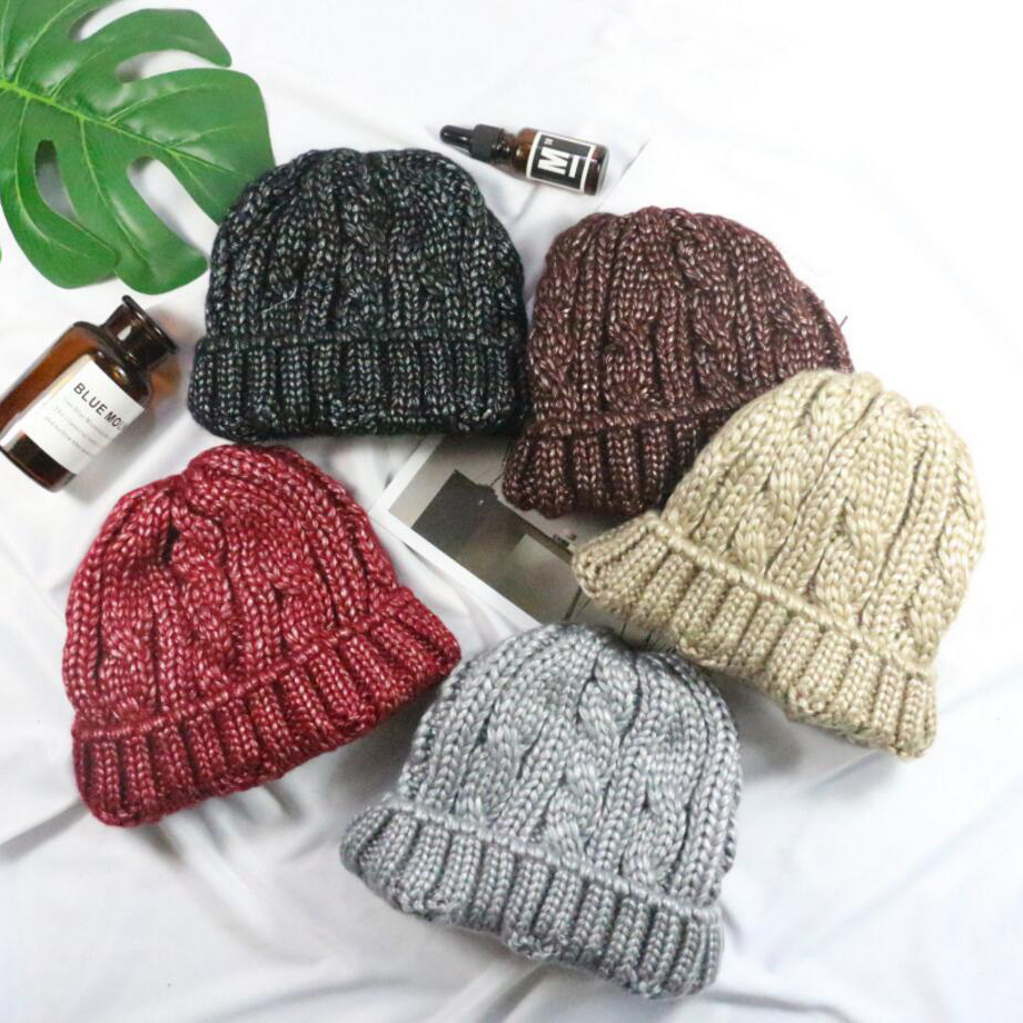 ladies winter hats 5 colors warm knitted capes skullies beanies hat for womens and mens casual adults headgear