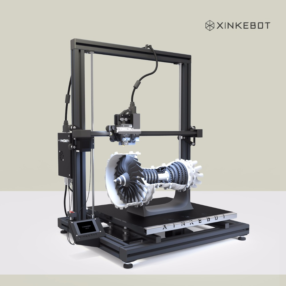 Cheap 3D Printer DIY Kit Large Print Area 400x400x500mm Xinkebot Orca2 Cygnus Auto Leveling Heated Bed