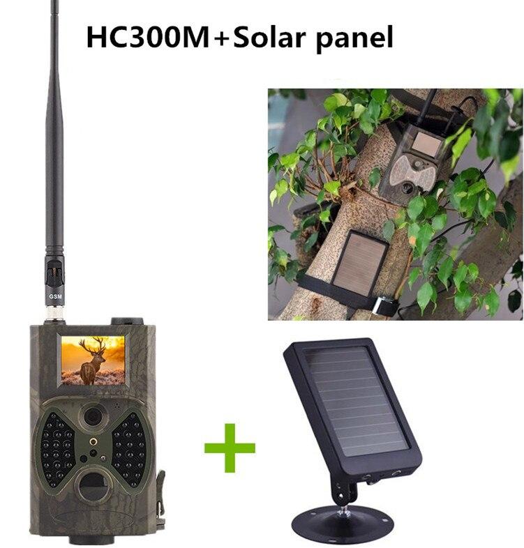 Piège Photo HC300M pour chasseur Full HD 1080 P MMS GPRS jeu de chasse caméra de piste + batterie de panneau solaire