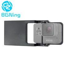 Cardan para a Câmera Do Telefone de Metal Interruptor Placa de Montagem Adaptador para Gopro 5 4 3 Xiaomi yi Ação para DJI Osmo /Zhiyun Lisa Q Gimbals