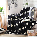 Cross Blanket A/B Side Blanket Nordic Style Bedspread for Living Room Double Blanket Black Grey,150*200cm free shipping