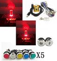 lighting kit with silver lighted button 2 players PC PS 3 Arcade to USB controller 2 player MAME Multicade Keyboard Encoder