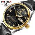 Fotina Top Brand R Hombres Reloj Clásico Semana Fecha Reloj de Cuero Correa Masculina de la correa De Negocios Reloj de Cuarzo Reloj Relogio masculino