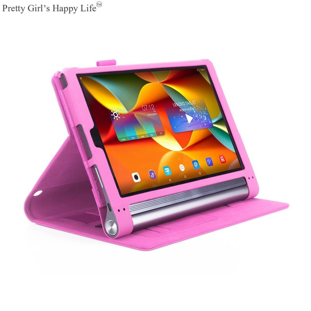 For Lenovo YOGA Tab 3 Plus 10.1'' Tablet Case Flip Leather Cover For YOGA Tab 3 Plus 10.1'' YT3-X703F Stand Capa Funda+Stylus new original for lenovo thinkpad yoga 260 bottom base cover lower case black 00ht414 01ax900