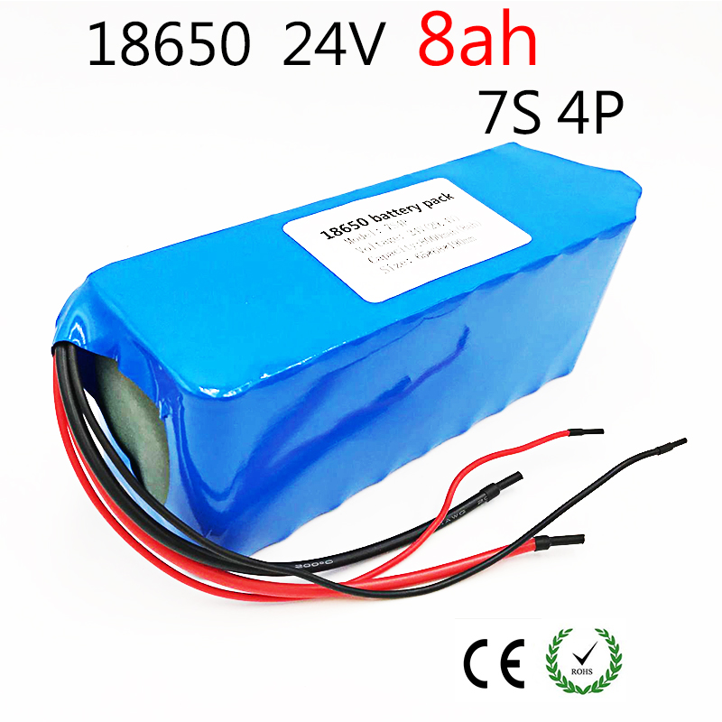 Laudation Electric bicycle Lithium Ion Battery 24V 8ah 29.4V 8000 mAh 15A BMS 250W 24V 350W 18650 Battery Pack Wheelchair Motor fikida 7s 24v 25 9v 29 4v 10ah 18650 lithium ion battery pack lightweight electric bicycle with 15a bms power tool motor battery