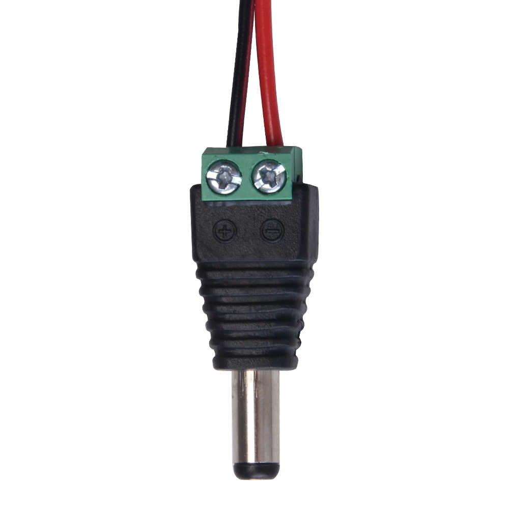 DC5.5x2.1mm נקבה זכר DC Power ג 'ק מחבר מלחץ מסוף בלוק תקע מתאם עבור 2pin 5050 3528 LED רצועת טלוויזיה במעגל סגור מצלמה חוט