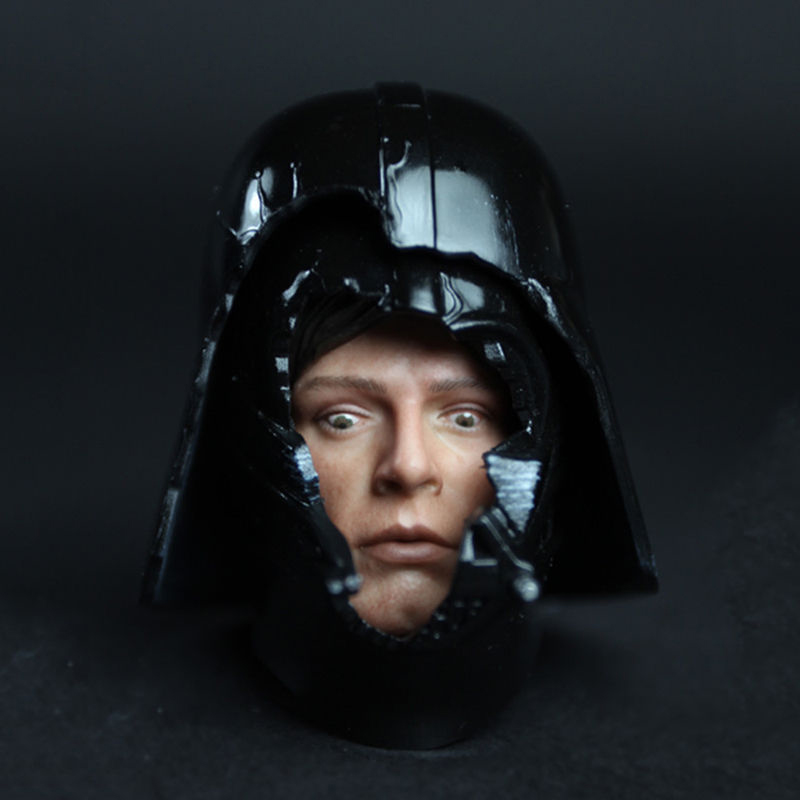 1/6 Scale HT DX07 VIP Star Wars Darth Vader Helmet with Luke Dark Face Fear Face Head Carving Model Fit 12 2