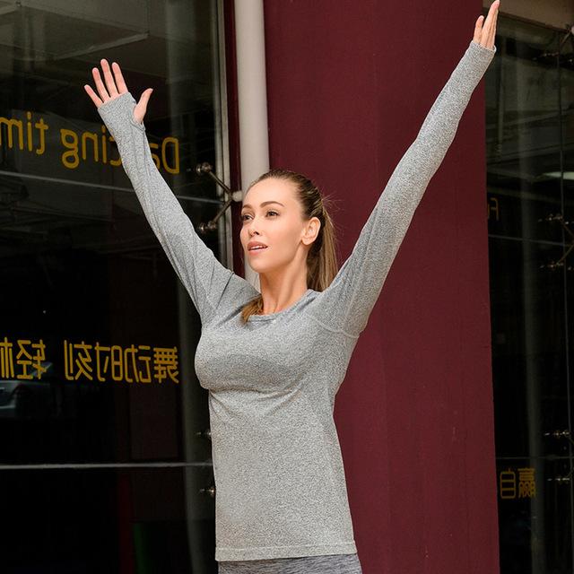 Women Yoga Fitness Sports Shirt; Pilates Tops Slim Shapers