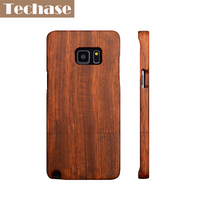 Techase Wooden Case For Samsung Galaxy S6 S6 Edge S7 S7 Edge Rosewood Phone Cases For