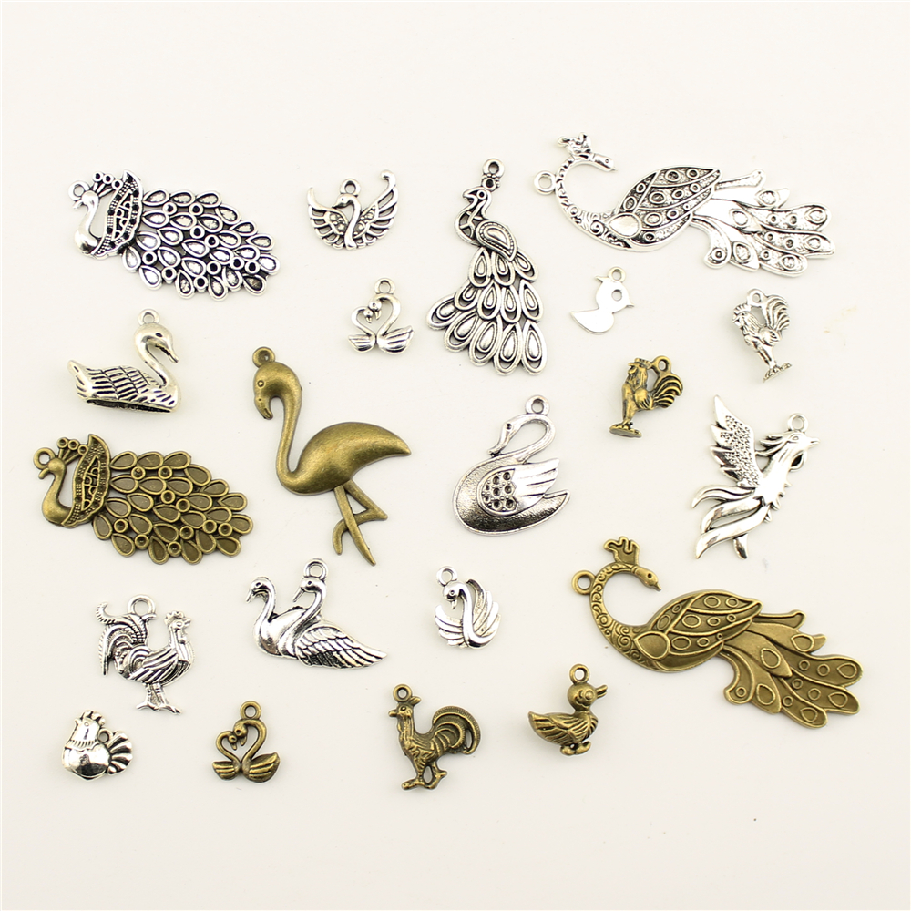 20pcs Animal Series Chameleon Charms Jewelry Making Accessories