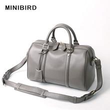 Lady Boston Bag Cowskin Genuine Leather Handbags Girls High Quality Fashion Crossbody Bag Women Pillow Totes Strap Shoulder Bags