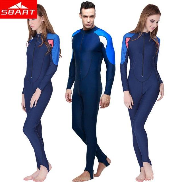 Sbart traje de buceo upf50 + lycra de manga larga Neoprenos completo Cuerpo  bañadores natación triatlón dc96243e3450