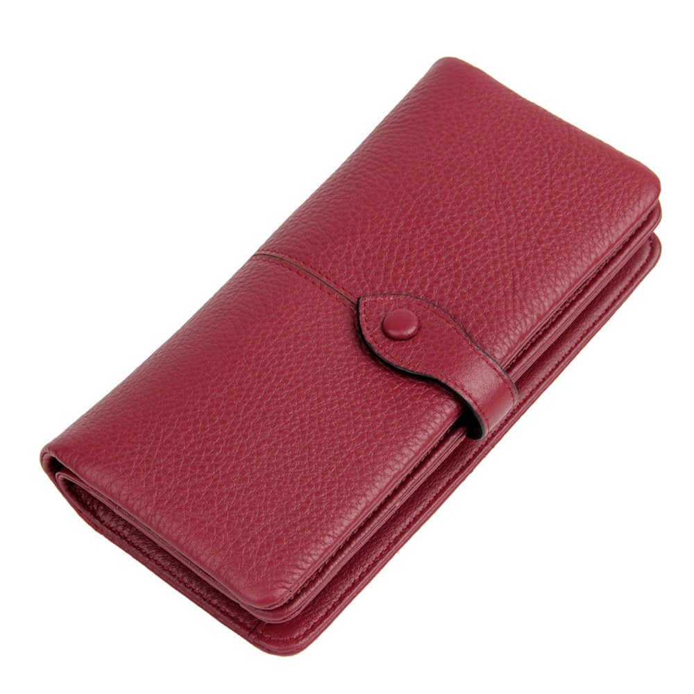 ФОТО Fashion Women Genuine Leather Wallets Female First Layer of Cowhide Phone Purse Ladies Leisure Real Leather Long Wallet LZ104
