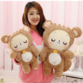 Cute Cartoon Shy Sleepy Rilakkuma Bear Plush Doll 2 Colors Peluche Toy for Children Baby Gift Stuffed Animal Brinquedos