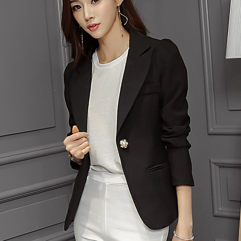 82ab0616eaf New Women Blazer Spring Slim Top Elegant Single Button Short Design clothes Blazer  Suit Female Suit   Women Work Wear-in Blazers from Women s Clothing on ...