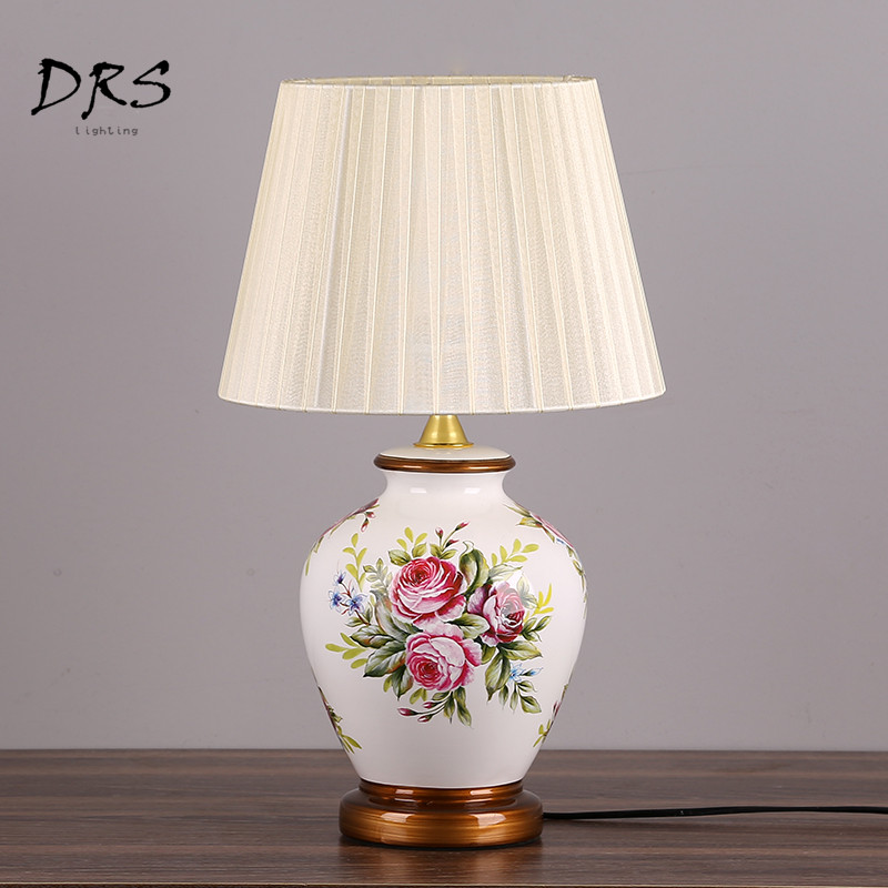 US $118.7 24% OFF|Chinese Ceramic Table Lamps Bedroom Desk Lamps Living  Room Study Lamps Luminaria Mesa Decorating Mariage Table LED Lamps-in LED  ...