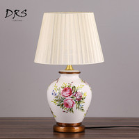 Chinese Ceramic Table Lamps Bedroom Desk Lamps Living Room Study Lamps Luminaria Mesa Decorating Mariage Table LED Lamps