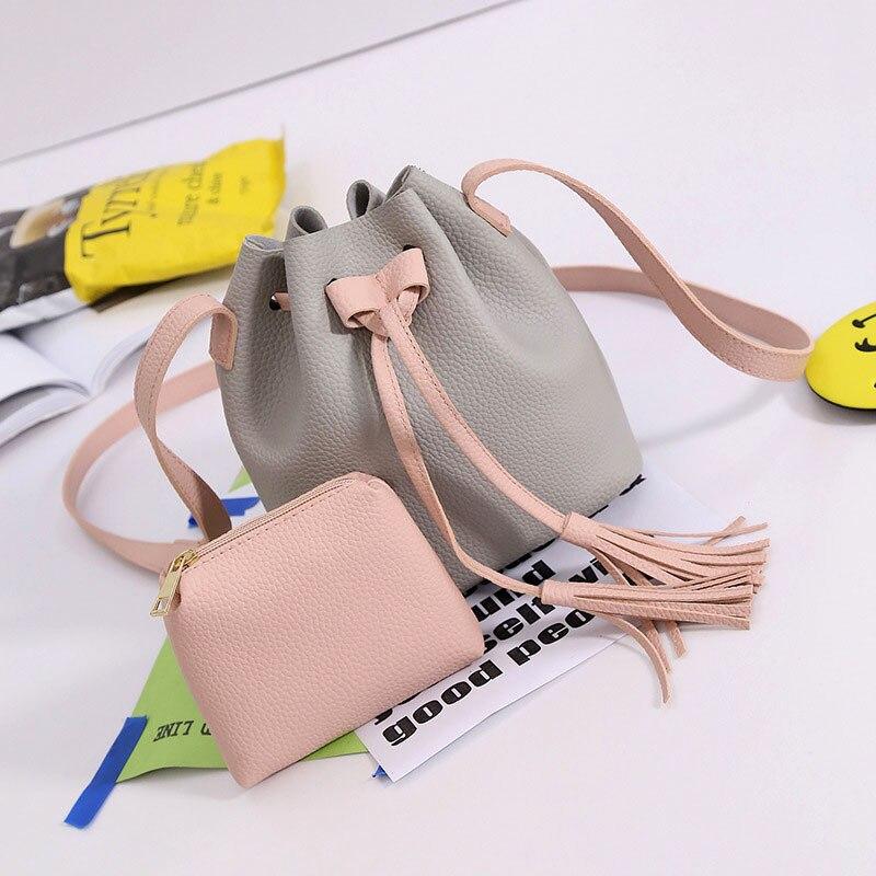 Female Tassel Bucket Bag Famous Messenger Bags Handbags Brands Sling Women Crossbody Brand Shoulder Designer Little Cute