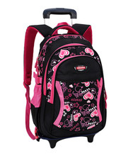 Neue Kinder Trolley Rucksack Schultaschen Für Grils Rädern Tasche Student Abnehmbare Roll Rucksäcke Frauen reisetasche Rucksack